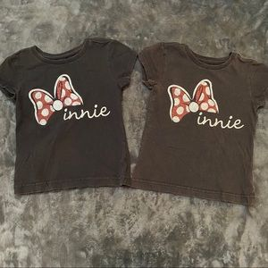 Bundle 2 Matching Minnie XS 4 Black Tee Shirts